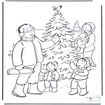 Winter coloring pages - In the snow