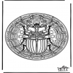 Mandala coloring pages - Insect mandala 1