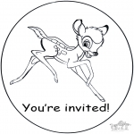 Crafts - Invitation Bambi