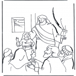 Bible coloring pages - Jairus' daughter 2