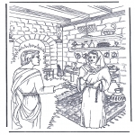 Bible coloring pages - Jesus baptisted 2