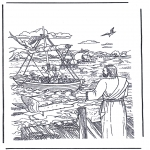 Bible coloring pages - Jesus called Simon and Andrew