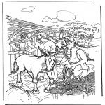 Bible coloring pages - Jesus entry into Jerusalem 1