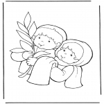 Bible coloring pages - Jesus entry into Jerusalem 2