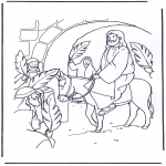 Bible coloring pages - Jesus entry into Jerusalem 4