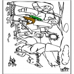 Bible coloring pages - Jesus entry into Jerusalem 7