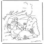 Bible coloring pages - Jesus Getsemane