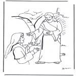 Bible coloring pages - Jesus has risen