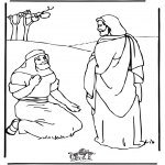 Bible coloring pages - Jesus healing