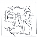 Jesus Healing a Lame Man (coloring page) • KidExplorers™ at