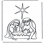Bible coloring pages - Jesus in crib