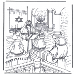 Bible coloring pages - Jesus in temple