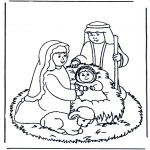 Bible coloring pages - Jesus in the manger