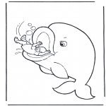 Bible coloring pages - Jonah and the fish