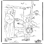 Bible coloring pages - Joseph brings food