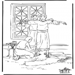 Bible coloring pages - Joseph in Egypt