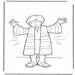 Bible coloring pages - Joseph's coat