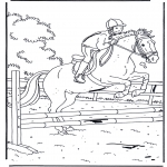 animals coloring pages - Jumping