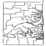 Animals coloring pages - Kangaroo 1