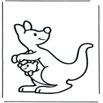 animals coloring pages - Kangaroo 2