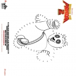 Comic Characters - Kung Fu Panda 2 - Connect the Dots 1