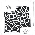 Crafts - Labyrinth worm