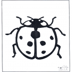 Animals coloring pages - Ladybird 1