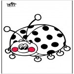 Animals coloring pages - Ladybird 3