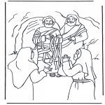 Bible coloring pages - Lazarus