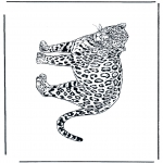 Animals coloring pages - Leopard 2