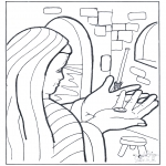 Bible coloring pages - Lesson of the widow's mite