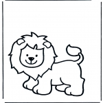 Animals coloring pages - Lion 1