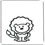 Animals coloring pages - Lion 2