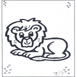 Animals coloring pages - Lion lying