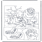 Animals coloring pages - Lions 1