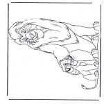 Animals coloring pages - Lions 5
