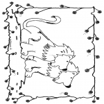 Animals coloring pages - Lions 6