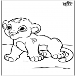 Animals coloring pages - Little baby lion