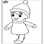 Kids coloring pages - Little boy 2