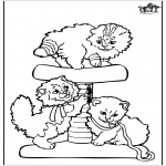 Animals coloring pages - Little cats