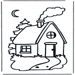 Kids coloring pages - Little cottage