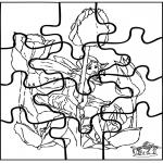 Crafts - Little elf puzzle