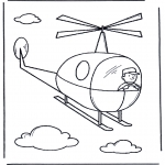 Kids coloring pages - Little helicopter