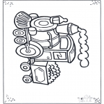 Kids coloring pages - Little locomotive