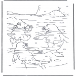Kids coloring pages - Little Polar Bear 3