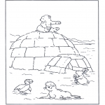 Kids coloring pages - Little Polar Bear 5
