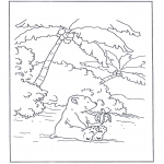 Kids coloring pages - Little Polar Bear 8