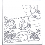 Kids coloring pages - Little Polar Bear 9