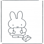 Kids coloring pages - Little rabbit with letter