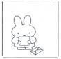 Little rabbit with letter
